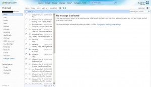 Windows Live Hotmail Wave 3 - Hotmail Page Screenshot