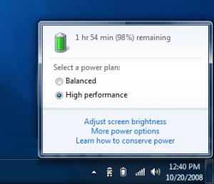 Windows 7 Battery Life Indicator