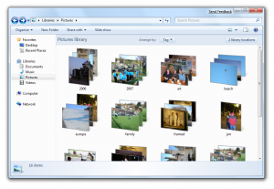 Windows 7 Libraries, Photo Gallery