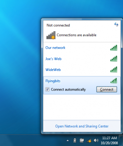 Windows 7 Network Connect