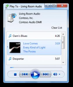 Windows 7 Play To