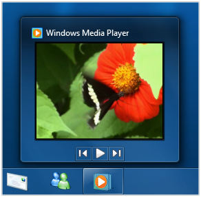 Windows Media Player Taskbar Thumbnail