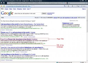 SEO - Title & URL (Click on the image to see larget picture view)