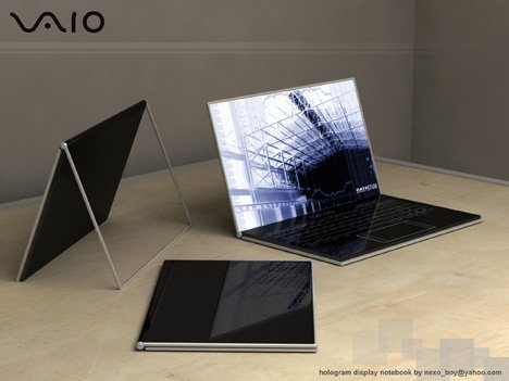 Sony Vaio Conceptual Transparent Screen Laptop (Click to Enlarge)