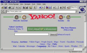 Yahoo.com on Mosaic Browser in 1993