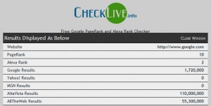 www.CheckLive.info Result