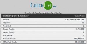 www.CheckLive.info Result