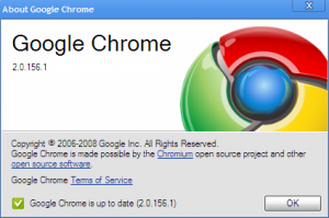 Google Chrome 2.0 Update