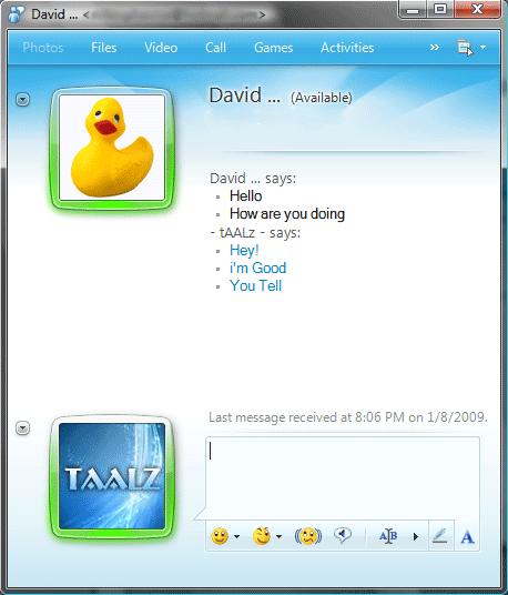 Windows Live Messenger Chat Windows Live Messenger