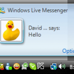 Windows Live Messenger 2009 Pop up