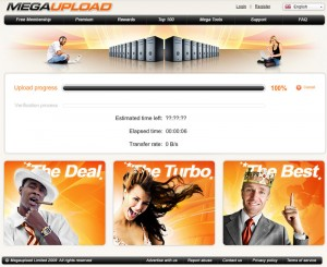 Megaupload.com New Design File Uploading Process