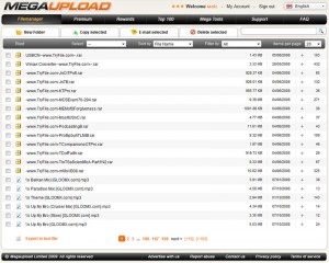 Megaupload.com New Design File Manager
