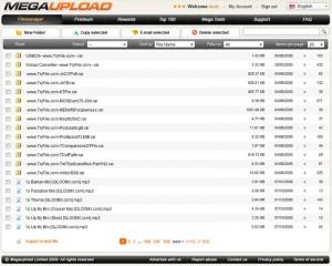Megaupload.com New Design File Manager