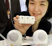 SONY Employee Displaying Bio Battery