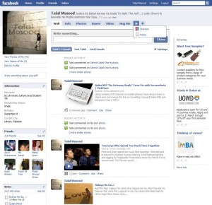 Facebook New Interface Profile Page