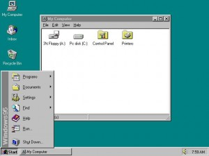 Microsoft Windows 95 was a total make-over of Microsoft Windows operating system and was introduced with rich graphical user interface.