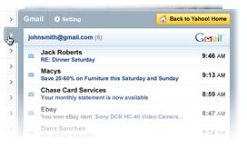 Yahoo New Homepage Gmail