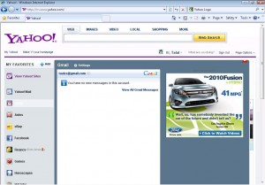 Yahoo My Favourites Menu Mouse Over