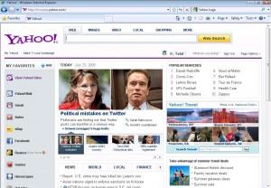 New Yahoo Homepage 2009