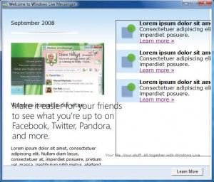 Windows Live Messenger Twitter Linked Crazy Popup Message