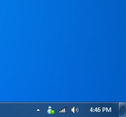 Windows Live Messenger in Windows 7 Near Clock