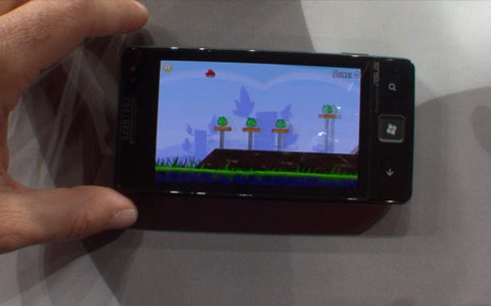 Angry Birds running on Windows Phone 7