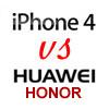 iPhone 4 vs Huawei Honor – Body Comparison Photos