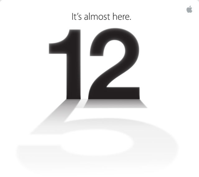 Apple invitation for September 12th with iPhone 5