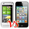 HTC Radar vs Apple iPhone 4/4S Side-by-Side Comparison